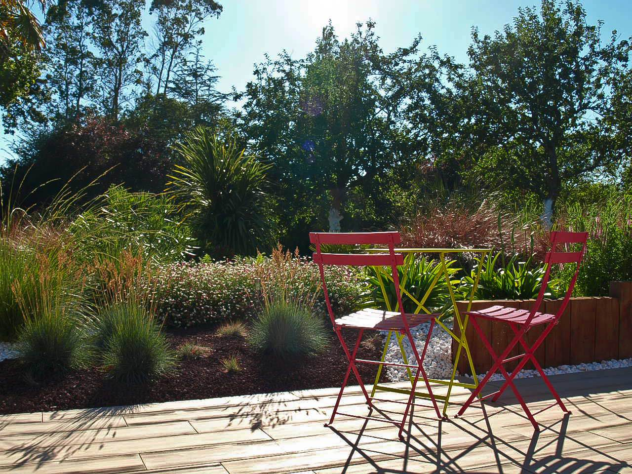 Jardin paysager contemporain minimum d 39 entretien for Jardin contemporain epure